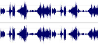 Stereo-Sound-Spektrum Lizenzfreie Stockbilder