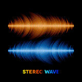 Stereo sound waveform Stock Images