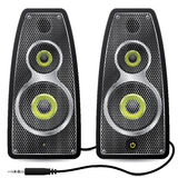 Stereo speaker set with metallic mesh Royalty Free Stock Photography
