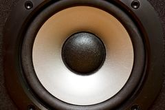 Stereo speakers membrane Royalty Free Stock Images