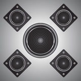 The stereo speakers Royalty Free Stock Photos