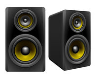 Stereo Speakers. Speakers on white background,  illustration Royalty Free Stock Photo