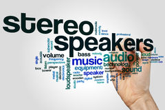 Stereo speakers word cloud Royalty Free Stock Photography