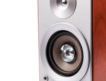 Stereo system dźwiękowy odizolowywający na białym tle Fotografia Stock