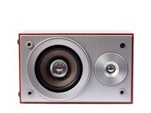 Stereo system dźwiękowy odizolowywający na białym tle Zdjęcie Royalty Free