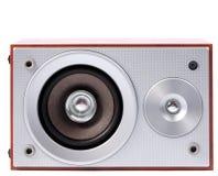 Stereo system dźwiękowy odizolowywający na białym tle Zdjęcia Stock