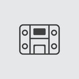 Stereo system icon illustration Stock Images