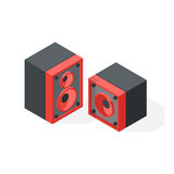 Stereo system isometric vector illustration. Royalty Free Stock Photo