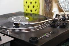 Stereo turntable vinyl record player analog retro vintage Stock Image