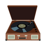 Stereo vinyl record gramophone player. Retro music gadget from 2 Royalty Free Stock Images