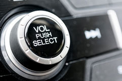 Stereo Volume knob Stock Photo