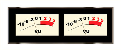 Stereo VU Meters Royalty Free Stock Photography