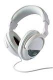 stereo- white för hörlurar Arkivbild
