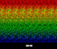 2015 - stereogram - illusion of a 3D image Stock Photography