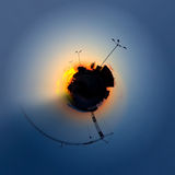 Stereographic planet Stock Image