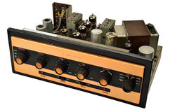 Stereophonic valve amplifier Stock Photos