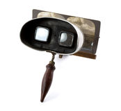 Stereoscope antique avec la carte Photo stock
