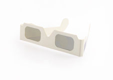 Stereoscopic Glasses. Isolated on White Royalty Free Stock Photos