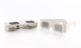 Stereoscopic Glasses. Isolated on White Background Stock Photos