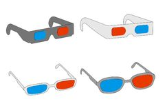 Stereoscopic glasses Royalty Free Stock Photography
