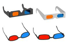 Stereoscopic glasses Stock Image
