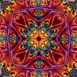 Stereoskopisk fractalmodell Royaltyfria Bilder