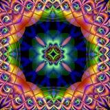 Stereoskopisk fractalmodell Fotografering för Bildbyråer