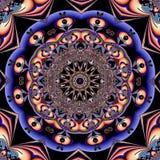 Stereoskopisk fractalmodell Arkivfoton