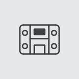 Stereosystem-Ikonenillustration Stockbilder