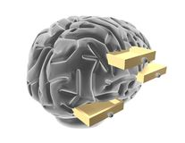 Stereotypes abstract concept with brain. Stock Photo
