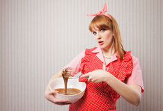 Retro housewife Stock Images