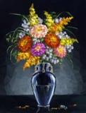 Ásteres das flores, baixo poli Fotos de Stock