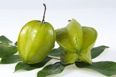 Sterfruit met groen blad Stock Afbeelding