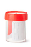 Sterile medical container for biomaterial Stock Photo