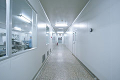 Sterile workshop corridor Stock Images
