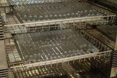 SterilisatieReageerbuizen in droog hittekabinet stock foto's