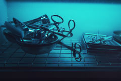 Sterilizing the medical instrument Stock Photography