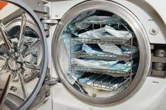 Sterilizzazione dentaria degli strumenti Fotografie Stock Libere da Diritti