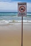 Sterk huidig waarschuwingssein stock afbeeldingen