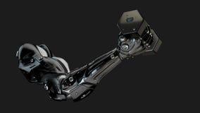 Sterk spier robotachtig wapen Stock Foto