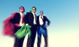Sterk Superhero-het Succesconcept van het Bedrijfsaspiratiesvertrouwen Stock Afbeeldingen