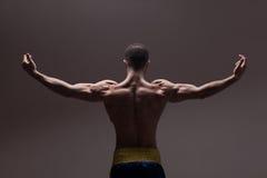 Sterke atletisch bemant terug royalty-vrije stock foto's