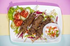 Sterke authentieke kebab van de Sheekkebab de traditioneel Royalty-vrije Stock Afbeeldingen