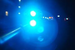 Sterke Blauwe Lichte Achtergrond Stock Fotografie