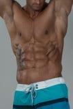 Sterke Bodybuilder met Zes Pak Stock Foto