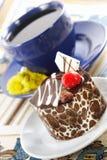 Sterke de lentethee en cake Stock Foto's