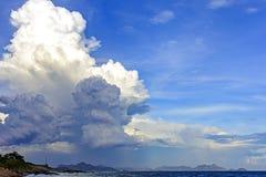 Sterke en donkere wolk over Rio de Janeiro Royalty-vrije Stock Foto