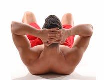 Sterke fitness sportmens stock foto