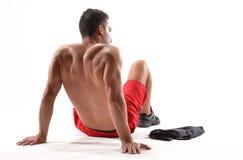 Sterke fitness sportmens stock afbeelding