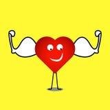 Sterke gezonde hartvector Royalty-vrije Stock Foto